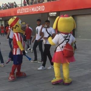 Ambiance Atletico de Madrid parvis